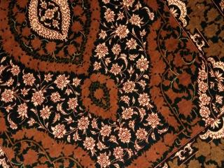 ペルシャ絨毯クム産地玄関マット31039