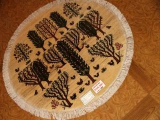とてもおしゃれな丸いペルシャシラズのイラン製37620