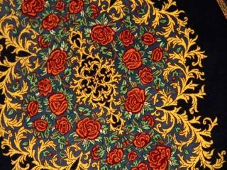 高級手織りシルクバラデザインクム産地56029
