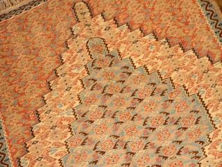 高級手織りペルシャキリムセネ産地ウール46518