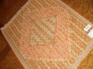 高級玄関マットキリム、セネ産地ウール46520