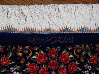 高級手織りペルシャ絨毯クムシルクソファー前60011