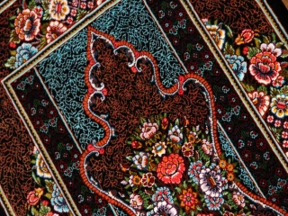 小さい玄関マットとても高品質の手織りペルシャ絨毯クムシルク60056