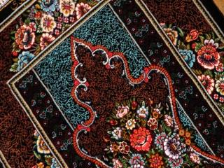 小さい玄関マットとても高品質の手織りペルシャ絨毯クムシルク60057