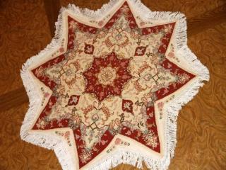 星形の手織りペルシャ絨毯とても珍しい形23315