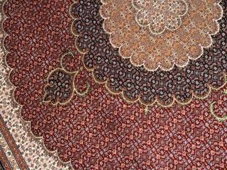 正方形リビングペルシヤ絨毯タブリズ赤色75155