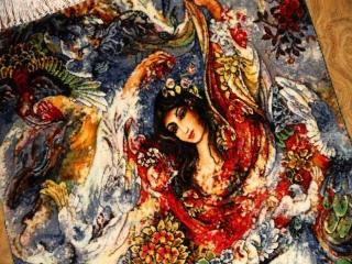 ペルシャ絨毯のタブリーズ珍しいピクチャー模様55354