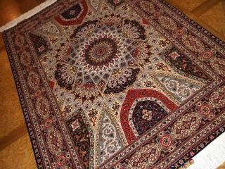 手織りペルシャ絨毯タブリーズゴンバディデザイン59009