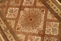 高級手織りペルシャ絨毯クムシルク48058