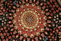 高級玄関マットペルシャ絨毯クム49043