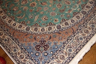 超一流ペルシャ絨毯ナイン正方形3655