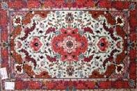 玄関マットタブリーズ産地のペルシャ絨毯イラン輸入3082