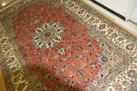イラン輸入手織りペルシャ絨毯カシャン産地55371