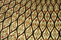 丸いペルシャじゅうたんクム、円形ジュウタン48088