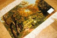 ペルシャ絨毯ピクチャ模様タブリーズ49107