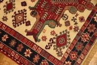 草木染め最高級手織りラグキリム27487