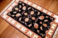 輸入手織りペルシャ絨毯タブリーズ、シルク&ウール3075