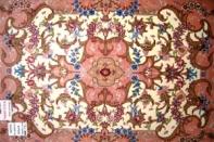 手織り玄関マットペルシャ絨毯タブリーズ34082