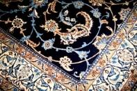 ペルシャ絨毯ソファー前サイズナイン産シックな紺色2940