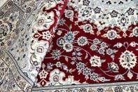 赤いペルシャ絨毯リビング手織りカーペット49135