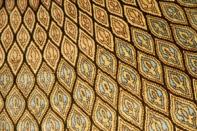 手織りペルシャ絨毯クムシルク、人気ゴンバディデザイン48081