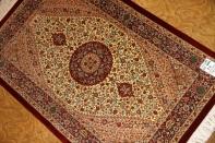 ハイランク手織りペルシャ絨毯シルク48043