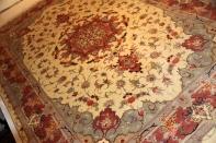リビングサイズカーペット手織りペルシャ55392