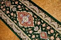 グリーン絨毯細長い玄関マット48033