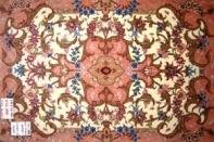 手織り玄関マットペルシャ絨毯タブリーズ34083