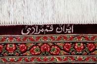 バラいっぱいシルクペルシャ絨毯、レッドローズ56010