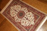 代表的なペルシャ模様の手織りシルク玄関マットクム産56096