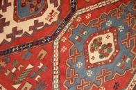 キリム三つメダリオン面白い柄ペルシャ35436