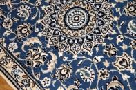 ペルシャンブルー玄関マットペルシャ絨毯58060