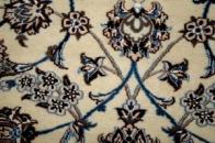ペルシャ絨毯ナイン産細かい織り方ナイン4ラ3263