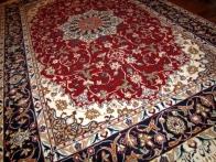 手織り高級ペルシャ絨毯イスファハン46314