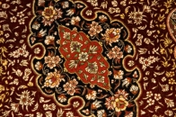 クムシルクのペルシャ絨毯玄関マット48021