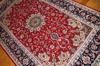 手織りペルシャ絨毯伝統のイスファハン産地99432