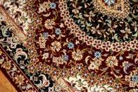 クムシルク玄関マット、ペルシャ絨毯49038
