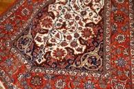 伝統的な手織りイスファハンペルシャ絨毯46312