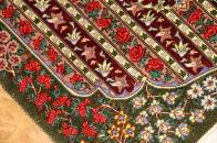 有名工房バラ模様シルク玄関マット99401