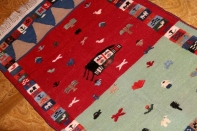 キリムとギャッベの織り方玄関サイズ9900017