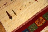 高品質の手織りギャッベ、イラン製のシンプルデザインギャッベ19229