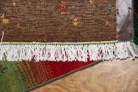 最高級イラン製ギャッベのアクセントラグメリノウール26353
