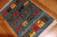 カラフルなギャッベイラン製羊毛ウールの細かい織り方26291