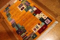 イラン製羊毛ウールの高級細かい織り方のギャッベ26295