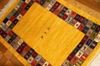 イラン製羊毛ウールの高級細かい織り方のギャッベ26494
