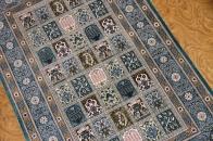 グリーン色のヘシティーデザイン絹玄関マットのペルシャ絨毯56068