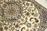 高級玄関マットペルシャ絨毯ナインベージュ色55100
