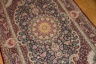 高級シルクペルシャ絨毯ソファー前ラグ99509