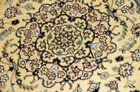 手織り輸入ラグマットペルシャ絨毯ナイン玄関マット55259
